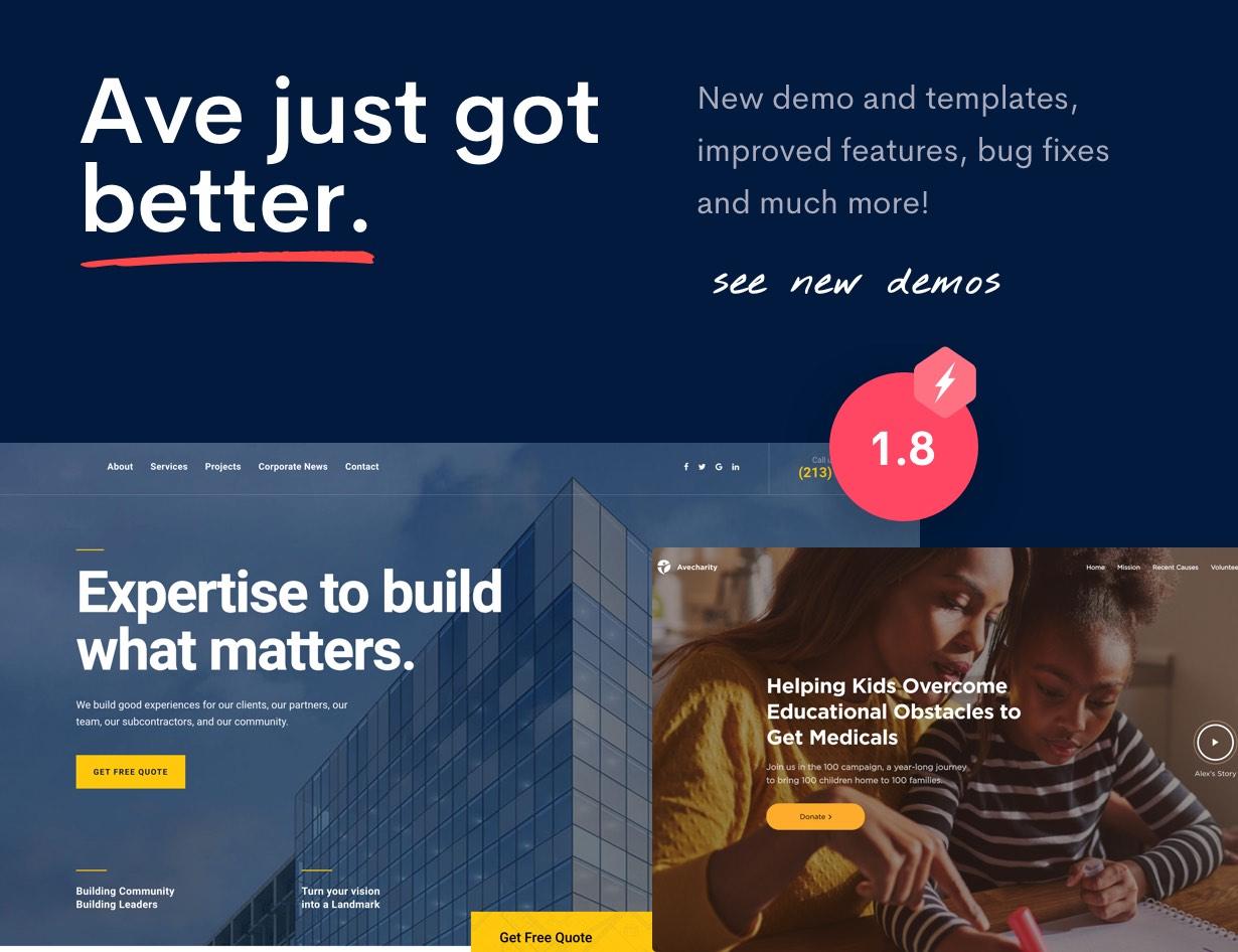 Ave - HTML Responsive Multi Purpose Template - 4